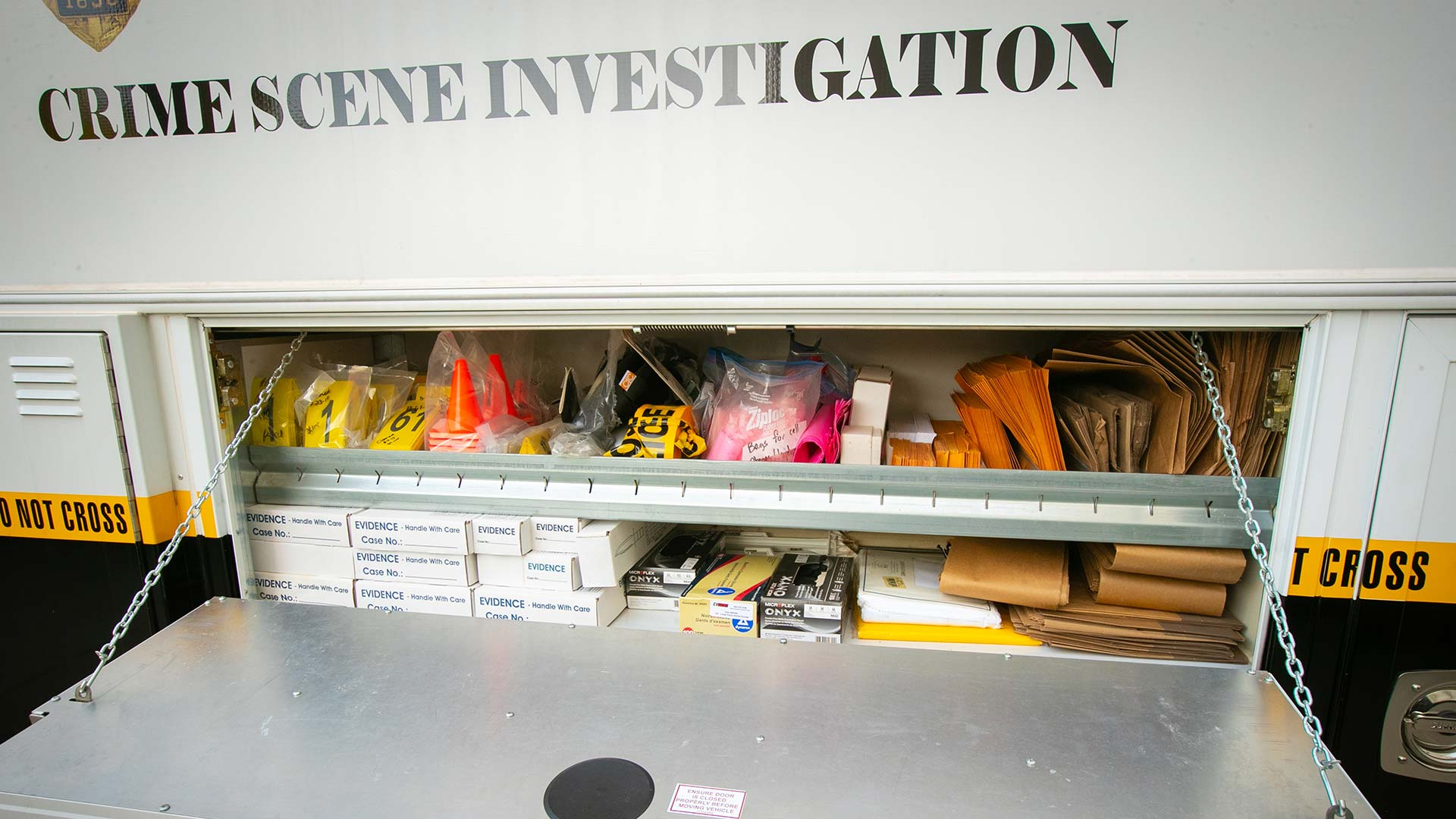Crime scene investigation equipment.